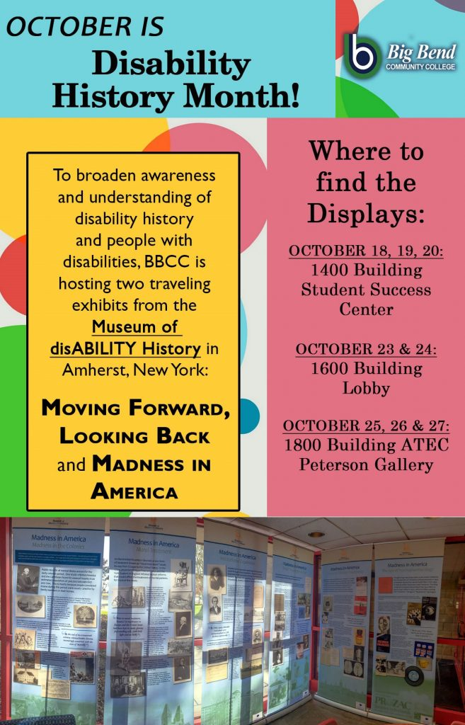 Poster for October disability history month