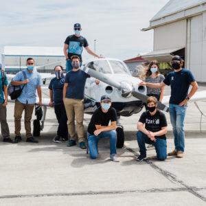 Flight Students at program hangar