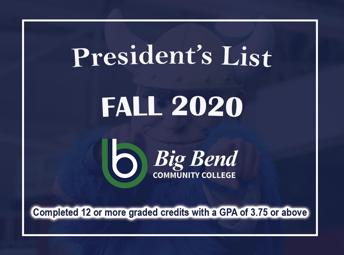 Fall 2020 President's List