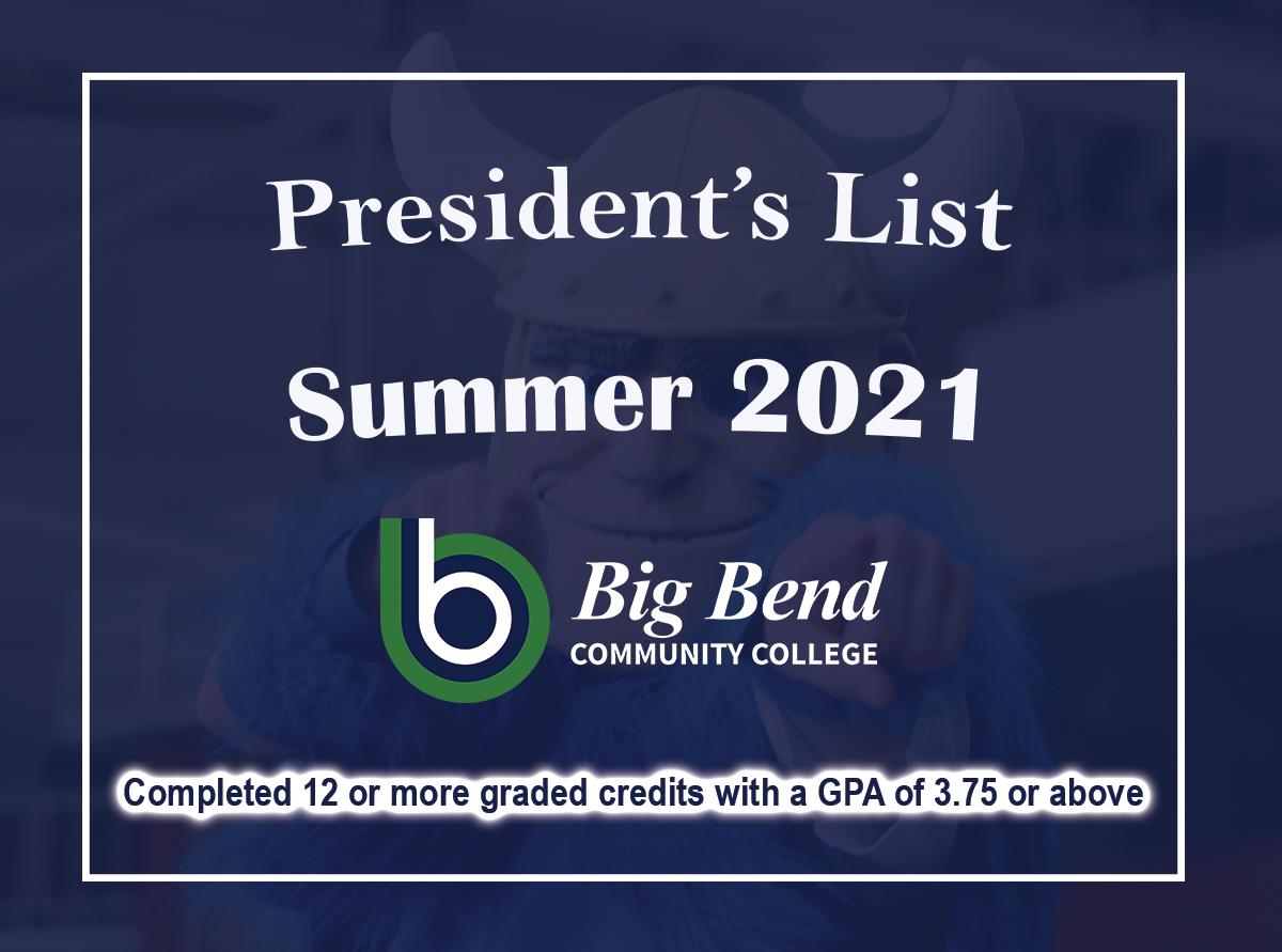 President's List graphic