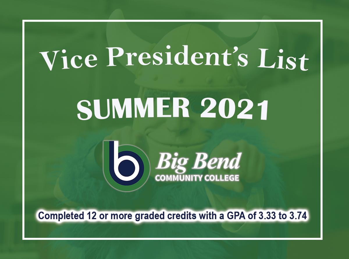 Vice President's list graphic